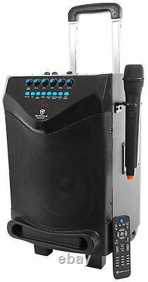 Rockville ROCKnGo 8 Rechargeable Home Theater Bluetooth Speaker+Wireless Mic