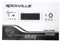Rockville RPA60BT 1000W Home Theater Bluetooth Receiver+(2) 5.25 Wall Speakers