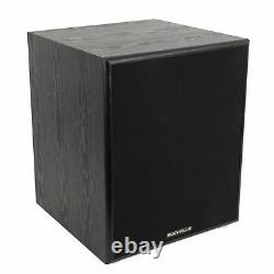 Rockville Rock Shaker 12 Inch Black 800w Powered Home Theater Subwoofer Sub