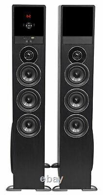 Rockville TM150B Black Home Theater System Tower Speakers 10 Sub/Blueooth/USB