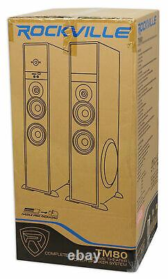 Rockville TM80B Bluetooth Home Theater Tower Speaker System+(2) 8 Subwoofers