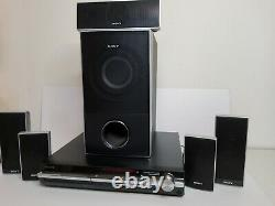 Sony Reciever Full 6 Speaker With Surround Sound Home Theater System