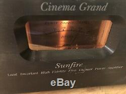 Sunfire Cinema Grand 5-Channel Power Amplifier Bob Carver Home Theater