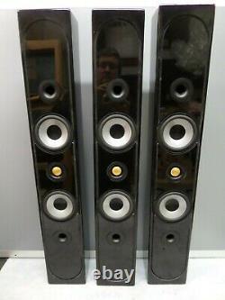 Three Monitor Audio Radius 250 home Theatre surround sound Speakers Gloss Black
