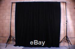 Velvet Custom Panel Drape 15W x 8H Black Home Theater Energy Efficient Curtain