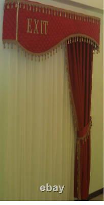 Velvet Home Theater Curtain Valance Hand Craft Door Cornice Your Own Logo