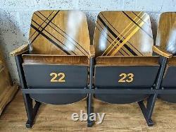 Vintage Retro Cinema Seats Row 4 Theatre Chairs Art Deco Refurbished Home Hall